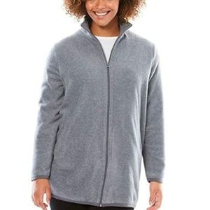 Jackets & Blazers - Woman Plus Size Zip-Front Microfleece Jacket